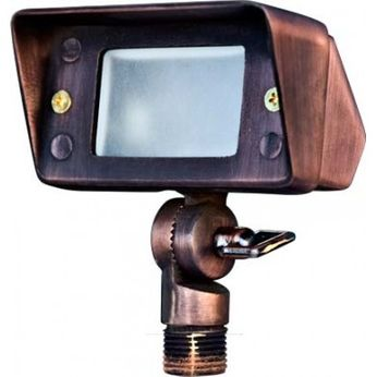 Dabmar LV-LED116-ABZ Modern Antique Bronze LED Exterior Landscape Light Mini Flood Light