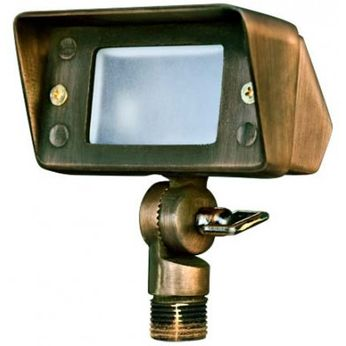 Dabmar LV-LED116-WBS Contemporary Weathered Brass LED Outdoor Landscaping Light Mini Flood Light