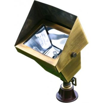 Dabmar LV-LED117-ABS Modern Antique Brass LED Exterior Pathway Lighting Mini Flood Light