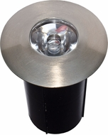 Dabmar LV-LED129-SS Contemporary Matte Stainless Steel LED Exterior In-Ground Well Lighting with Sleeve