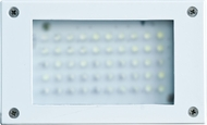 Dabmar LV-LED650-W Contemporary White LED Outdoor Open Face Recessed Step Light
