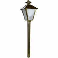 Dabmar LV-LED82-ABS Contemporary Antique Brass LED Outdoor Post Lighting