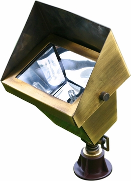Dabmar LV117-ABS Modern Antique Brass Halogen Exterior Security Lighting Residential