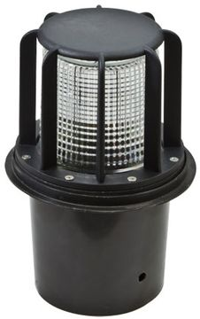 Dabmar LV15-LED6-B Beacon Contemporary Black LED Outdoor Well Lamping