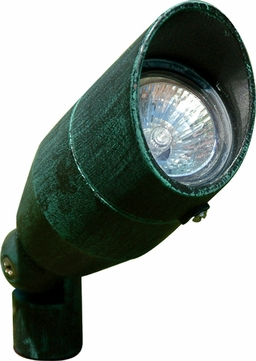 Dabmar LV190-PG Modern Patina Green Halogen Exterior Cast Aluminum Directional Landscape Spot Light with Hood