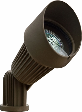 Dabmar LV203-BZ Modern Bronze Halogen Exterior Cast Aluminum Directional Landscape Spot Lighting with Hood