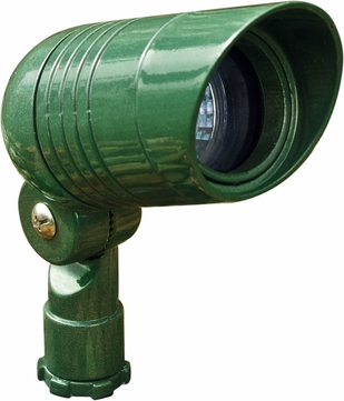 Dabmar LV222-G Contemporary Green Halogen Outdoor Cast Aluminum Directional Landscape Spot Light with Hood