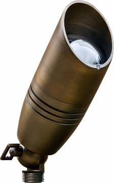 Dabmar LV235-WBS Contemporary Weathered Brass Halogen Outdoor Directional Landscape Spot Light with Hood
