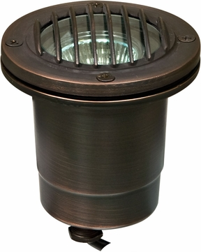 Dabmar LV24-WBS Contemporary Weathered Brass Halogen Exterior In-Ground Well Lighting with Grill