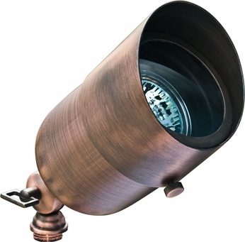 Dabmar LV29-HOOD-ABZ Contemporary Antique Bronze Halogen Outdoor Directional Landscape Spot Light with Hood