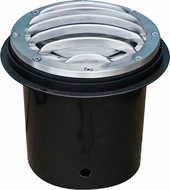 Dabmar LV305-SS-SLV Modern Electro-Plated Stainless Steel Halogen Outdoor Cast Aluminum Well Light with Grill