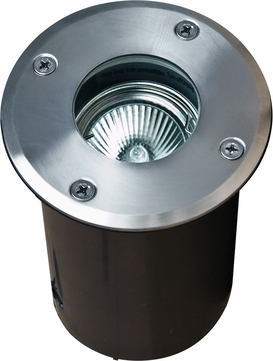 Dabmar LV314-SS Contemporary Stainless Steel Halogen Exterior In-Ground Well Lighting with Adjustable Lamp
