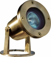 Dabmar LV323-BS Modern Brass Halogen Exterior Pond/Fountain Underwater Lighting