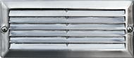 Dabmar LV600-SS304 Electro-Plated Stainless Steel Halogen Outdoor Cast Aluminum Recessed Louvered Step Lighting