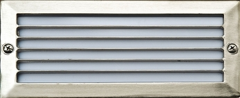 Dabmar LV601-SS Electro-Plated Stainless Steel Halogen Exterior Cast Aluminum Recessed Louvered Step Light