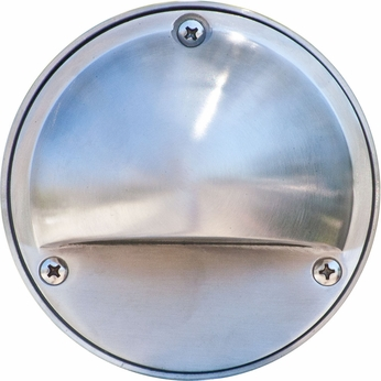 Dabmar LV605-SS Modern Electro-Plated Stainless Steel Halogen Outdoor Surface Mount Hooded Step Light Fixture