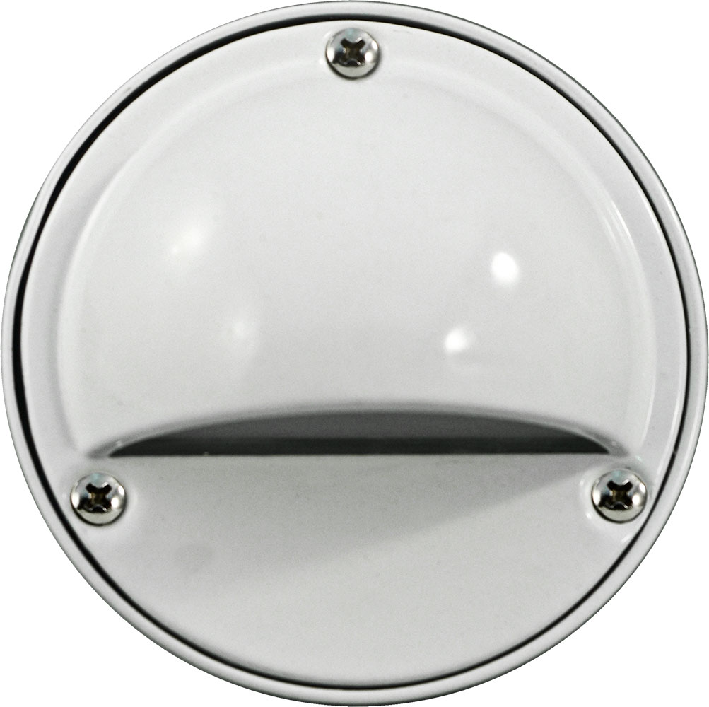 dabmar lv605 w modern white halogen outdoor surface mount hooded step light loading zoom - Outdoor Surface Mount Light