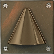Dabmar LV607-BZ Bronze Halogen Exterior Recessed Step Lighting Fixture
