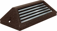 Dabmar LV608-BZ Modern Bronze Halogen Exterior Surface Mount Louvered Step Lighting Fixture
