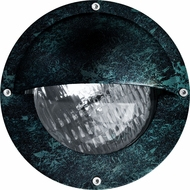 Dabmar LV609-VG Contemporary Verde Green Halogen Outdoor Recessed Step Light with Eyelid