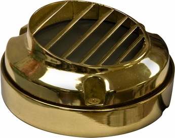 Dabmar LV610 Contemporary Brass Halogen Exterior Deck Lighting