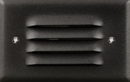 Dabmar LV617-B Black Halogen Outdoor Cast Aluminum Recessed Louvered Step Light Fixture