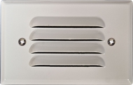 Dabmar LV617-W White Halogen Outdoor Cast Aluminum Recessed Louvered Step Light Fixture