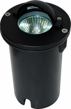 Dabmar LV625-B Contemporary Black Halogen Exterior Cast Aluminum Well Lighting with Eyelid