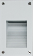 Dabmar LV670-W White Halogen Exterior Recessed Hooded Step Light