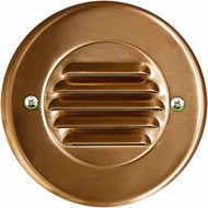 Dabmar LV708-CP Modern Copper Halogen Outdoor Recessed Louvered Step Light Fixture