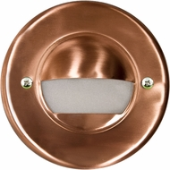 Dabmar LV709-CP Contemporary Copper Halogen Exterior Recessed Open Face Step Lighting