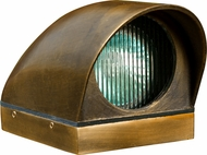 Dabmar LV73-ABS Modern Antique Brass Halogen Outdoor Deck Light