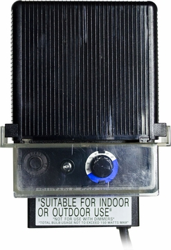 Dabmar LVT150 Black Exterior Magnetic 150 Watt Low Voltage Transformer with Manual Timer and Photocell