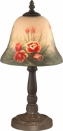 Dale Tiffany 10056-604 Rose Bell Antique Bronze Table Light
