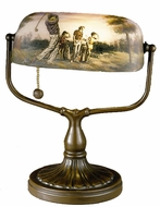 Dale Tiffany 10164-417 Hand Painted 1 Light Tiffany Golfer's Desk Lamp