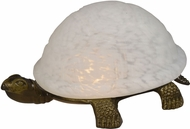Dale Tiffany 1792-816A Turtle Antique Brass Accent Lamp