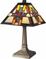 Dale Tiffany 7342-533 Morning Star Tiffany Antique Brass Lighting Table Lamp