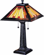 Dale Tiffany 7560-965 Mission Camelot Tiffany Mica Bronze Table Lamp Lighting