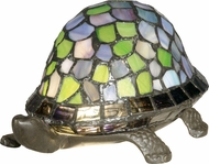 Dale Tiffany 7908-816A Blue Turtle Tiffany Antique Bronze Table Light