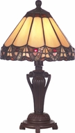 Dale Tiffany 8034-640 Peacock Tiffany Antique Bronze Lighting Table Lamp