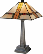 Dale Tiffany 8655-551 Edmund Mission Tiffany Antique Bronze Table Lamp