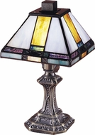 Dale Tiffany 8706 Tranquility Tiffany Antique Brass Lighting Table Lamp