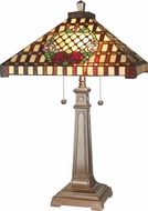 Dale Tiffany 8920-739 Mission Rose Tiffany Antique Bronze Side Table Lamp