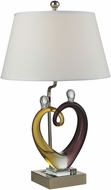 Dale Tiffany AC15043 Hearts Sculpture Polished Nickel Table Light