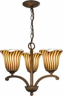 Dale Tiffany AH14175 Valley Glen Modern Antique Golden Bronze Mini Chandelier Light