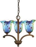 Dale Tiffany AH14289 Morgan Contemporary Antique Golden Bronze Mini Chandelier Lighting