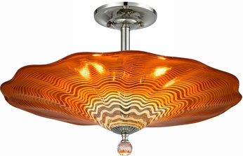 Dale Tiffany AH18003 Titan Modern Polished Chrome Ceiling Lighting