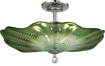 Dale Tiffany AH18009 Waterfront Modern Polished Chrome Ceiling Light
