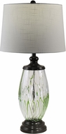 Dale Tiffany AT18325 Vale Modern Ebony Black Lighting Table Lamp
