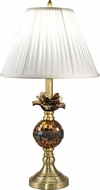 Dale Tiffany AT18326 Rose Contemporary Antique Brass Table Lamp Lighting